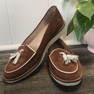 Vintage Pointer Suede Tassel Loafers Flats 7 VTG